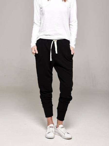 Organic cotton black track pants