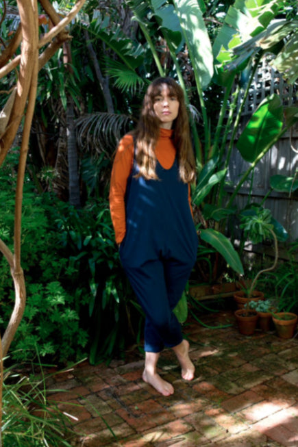 Blue Organic Cotton Jumpsuit