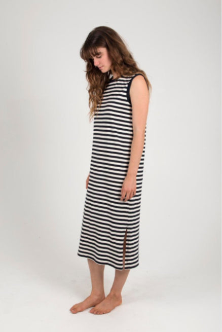 Certified Organic Cotton Tank Dress in Stripe