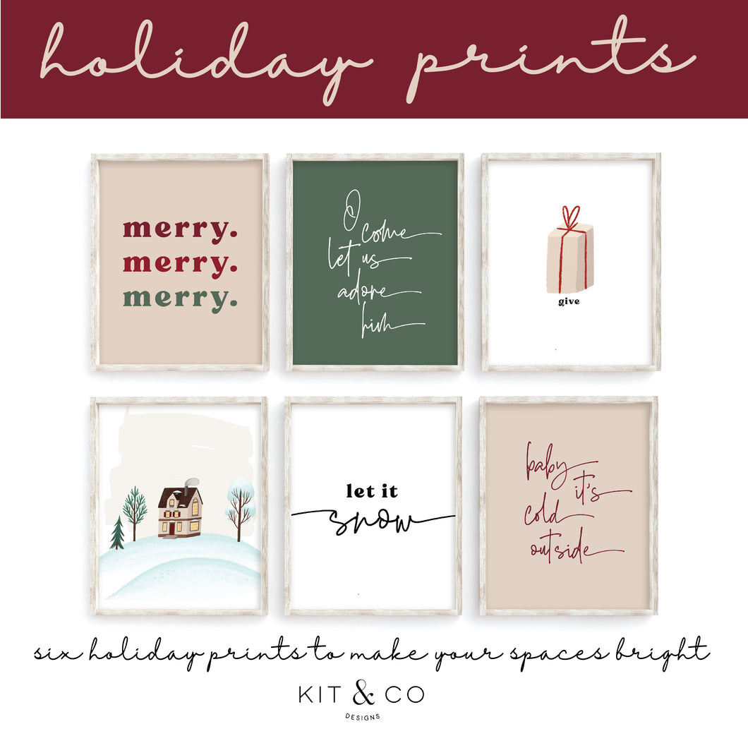 Holiday Prints Set 1