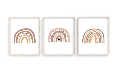 Blush Rainbow Prints- Set of 3