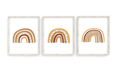 Camel Rainbow Prints- Set of 3