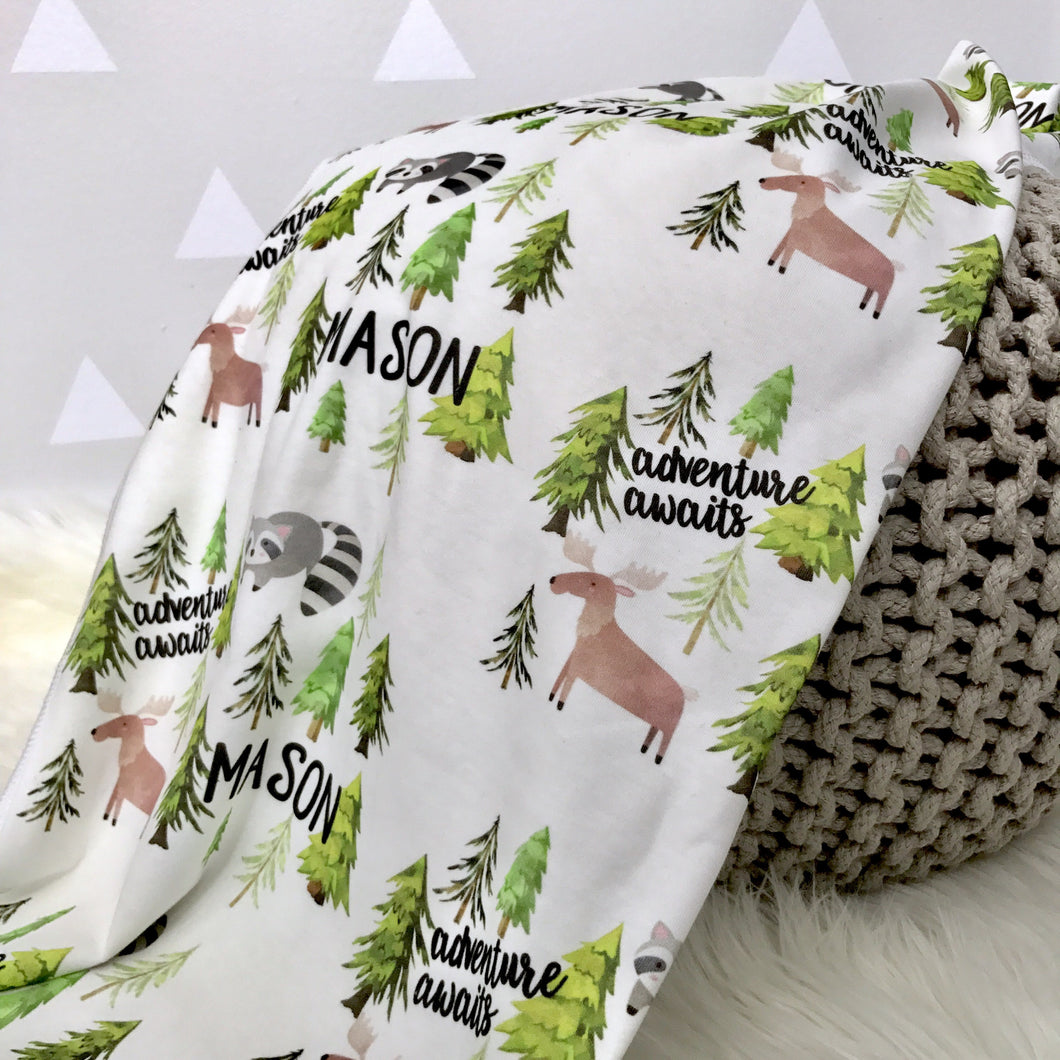 Themed Personalized Swaddle Blankets