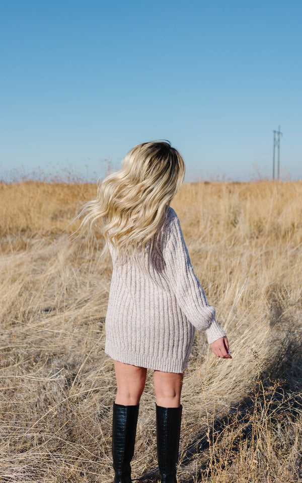 Confetti Knit Sweater Dress