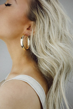 Jump Over Hoops For You Gold Earrings