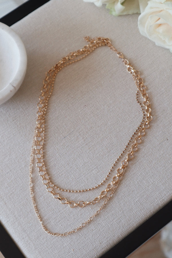 Stacked Multi Strand Necklace