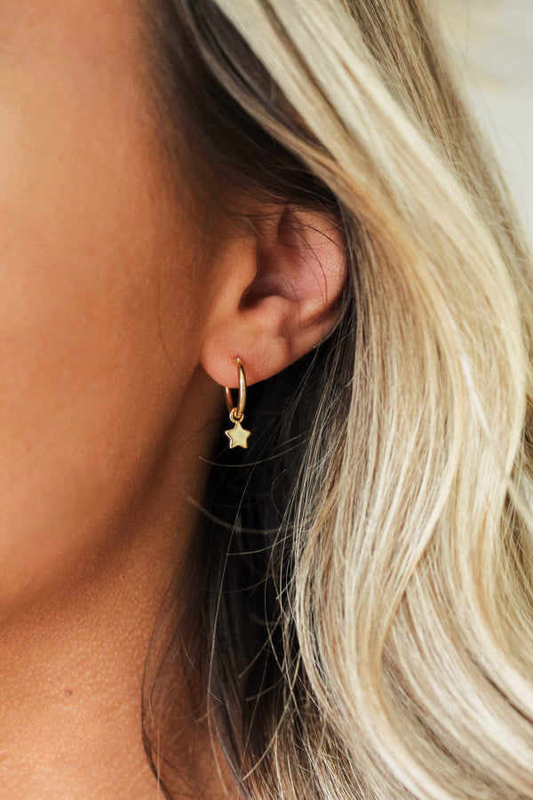 Dainty Star Mini Hoop Earrings