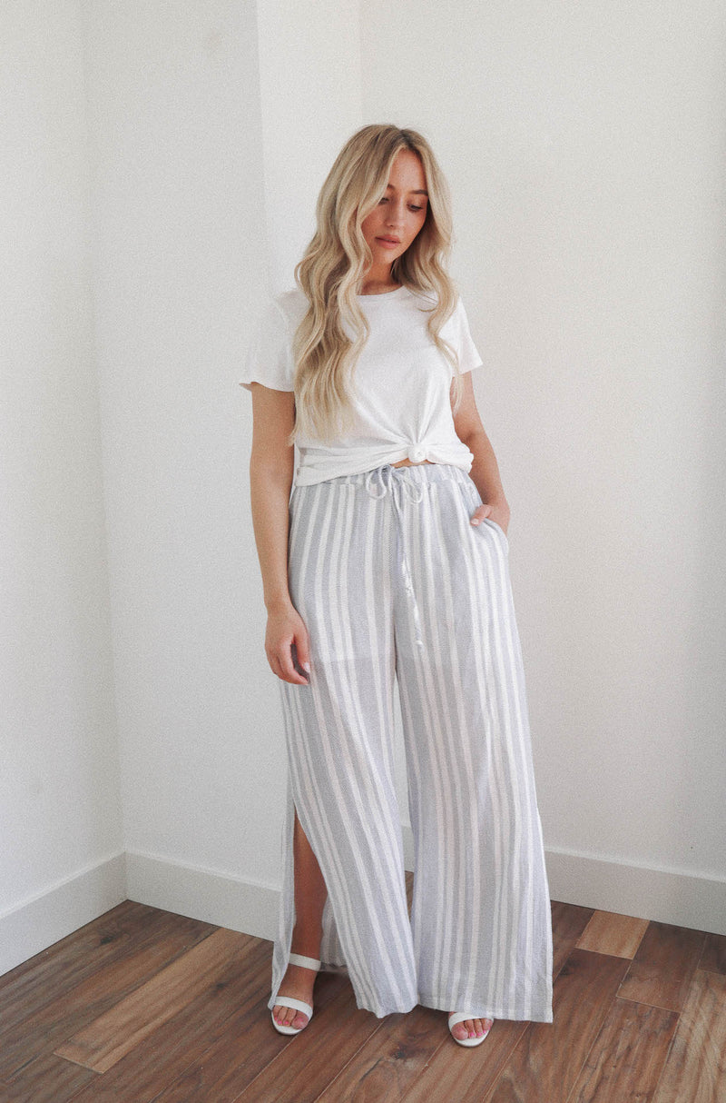 Take Me To Greece High Waisted Striped Pants