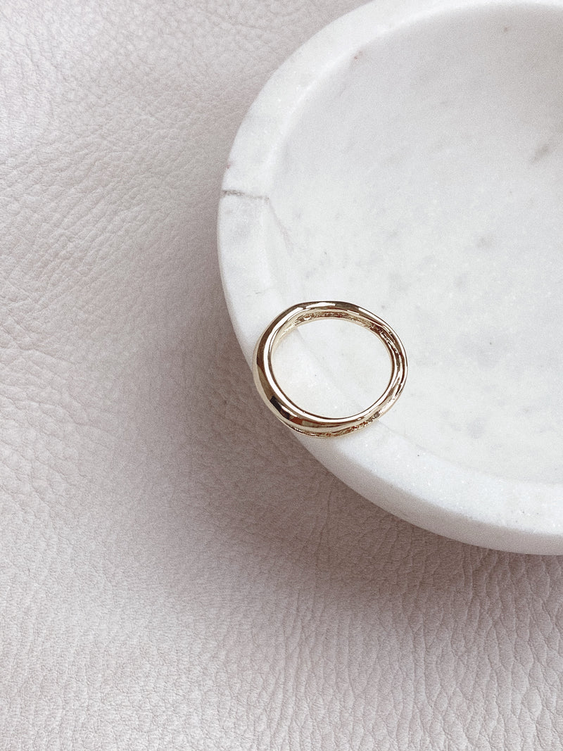 Gold Double Ring Band