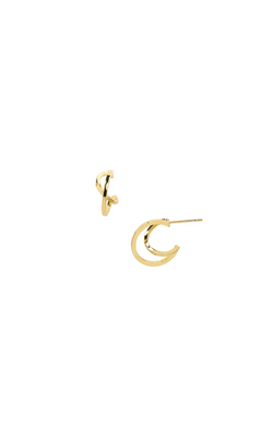 Criss Cross Hoops - 14k Gold