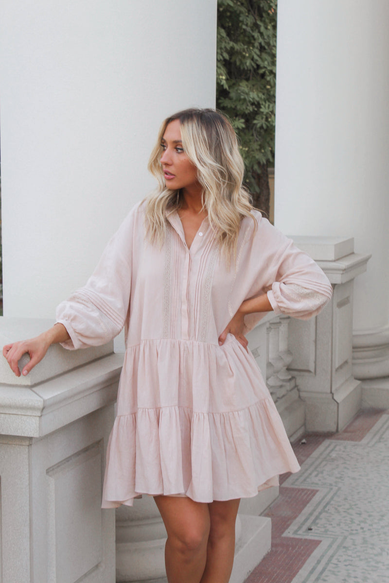 Poppy Dress - Blush