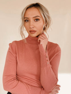 Mauve Turtleneck Sweater