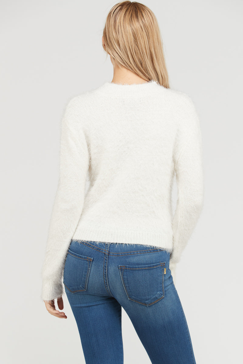 London Ivory Fuzzy Sweater
