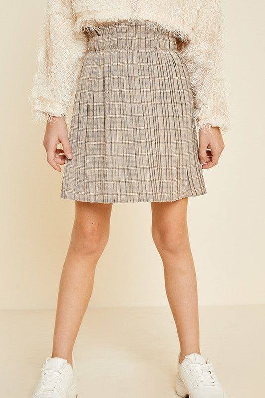 Parisian Plaid Pleated Skirt