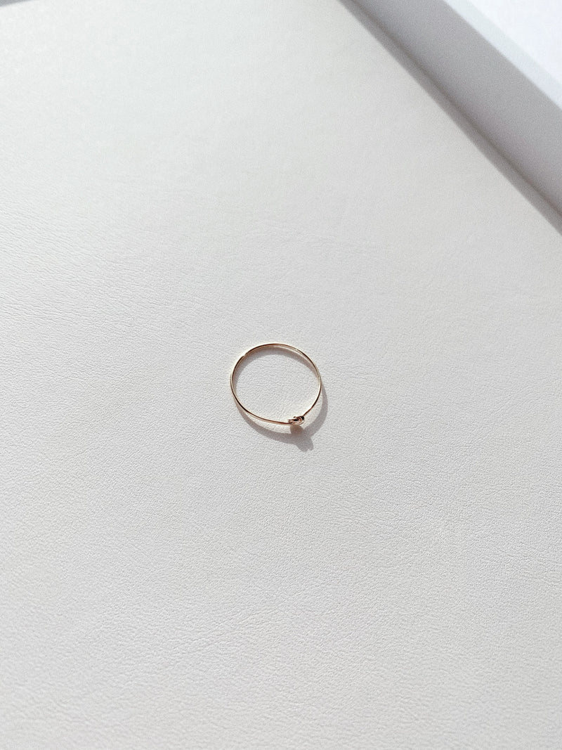 Delicate Gold Knot Ring