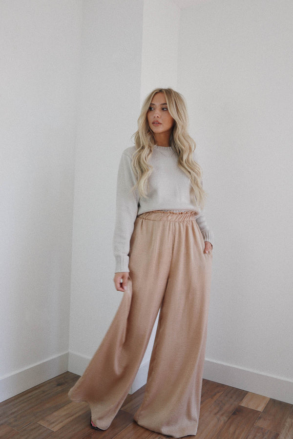 Camilla Silky Taupe Pants