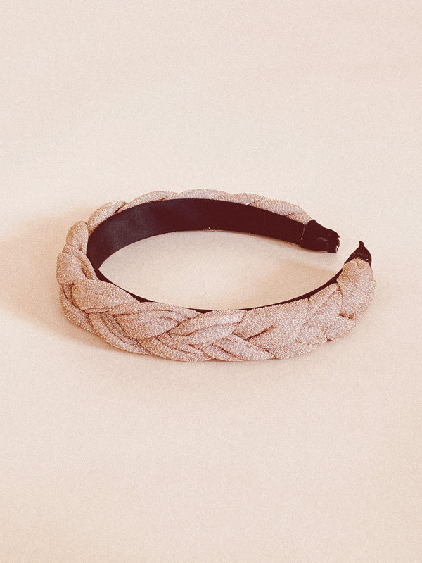 Rose Gold Braided Headband