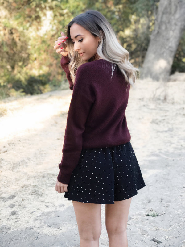 PENELOPE BLACK POLKA DOT SHORTS