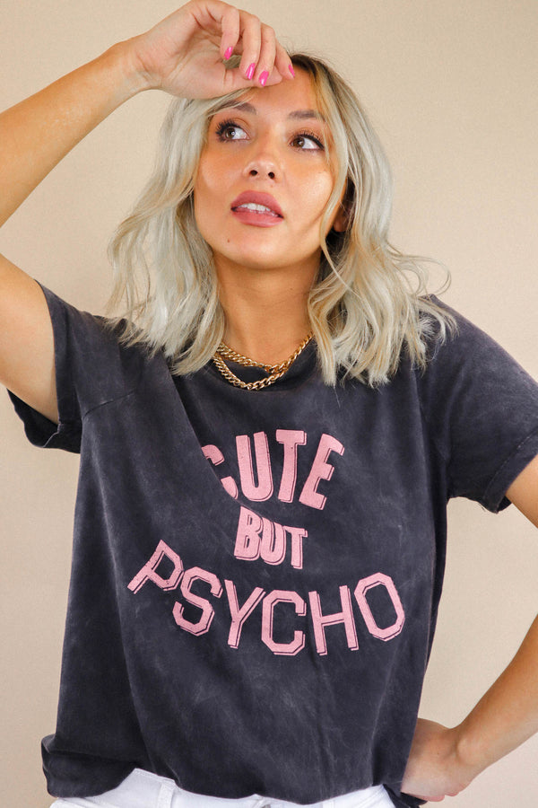 Cute But Psycho Vintage Graphic Tee