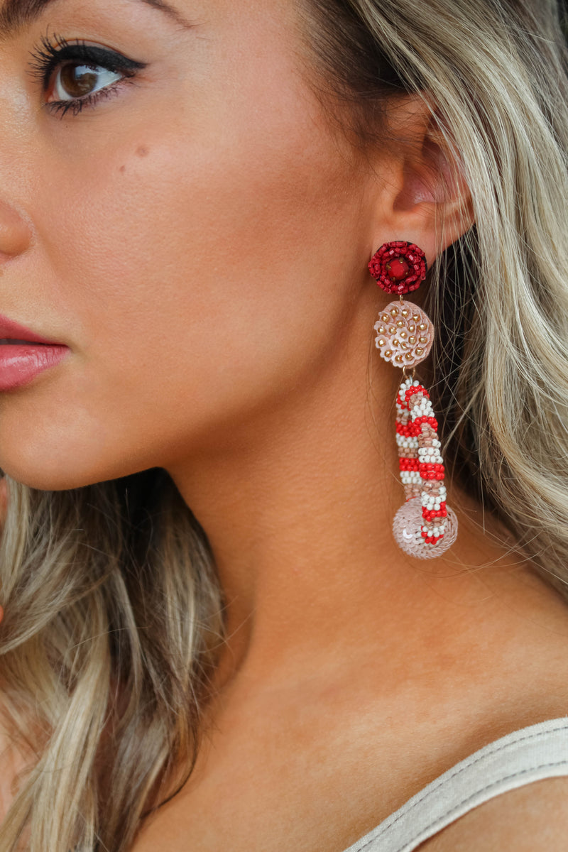 Garden Babe Beaded Hoop Earrings