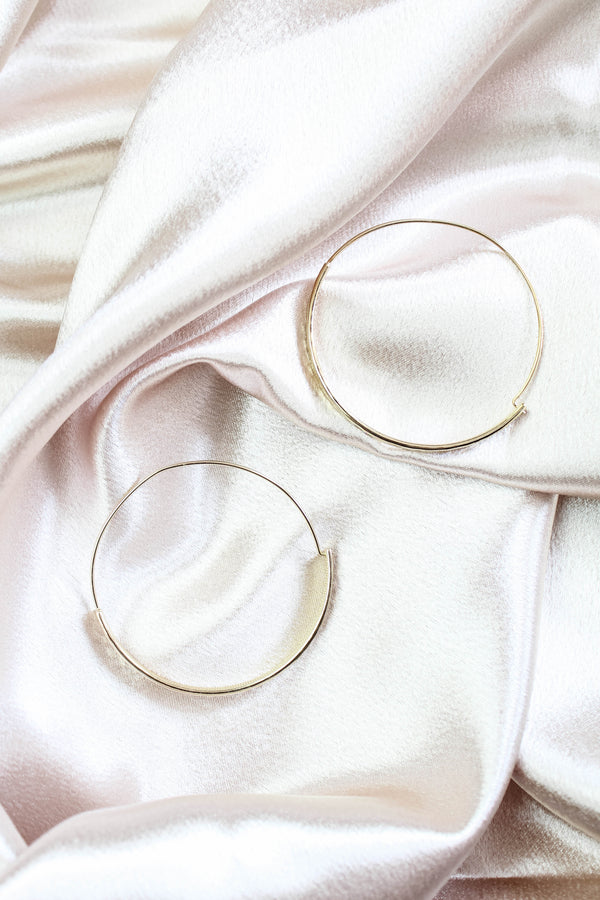 Sassy Babe Gold Hoop Earrings