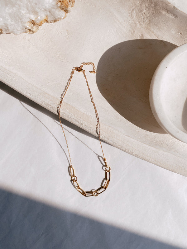 18K Chain Link Necklace