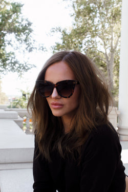 Miss Hepburn Tortoise Shell Cat Eye Sunglasses