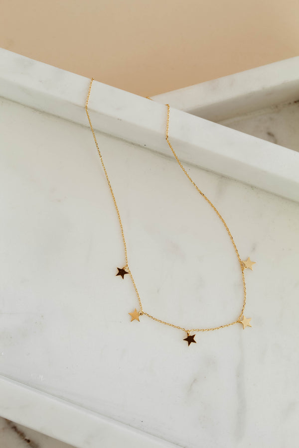 In The Stars Delicate Star Charm Necklace