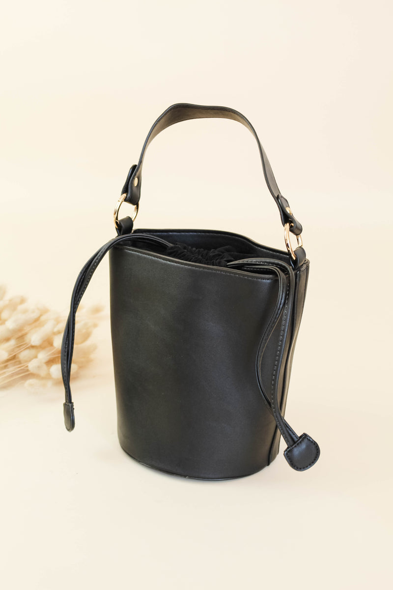 Its A Necessity Black Bucket Bag