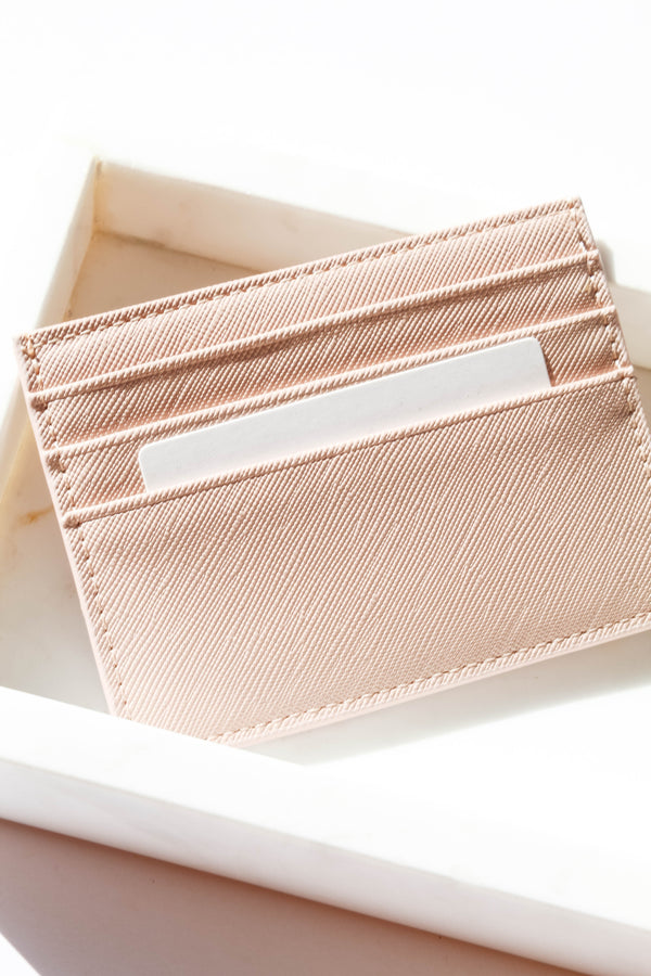 Sleek Blush Card Holder Wallet