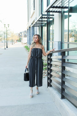 Breezy Black Midi Jumpsuit