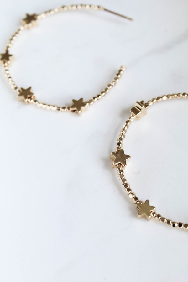 Star Struck Gold Hoops