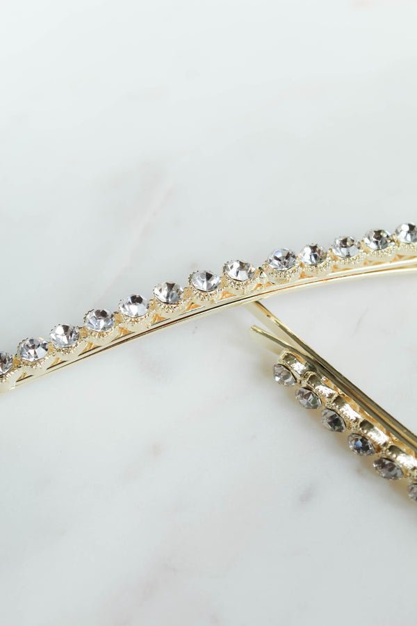 Fancy Rhinestone Hair Pin Set