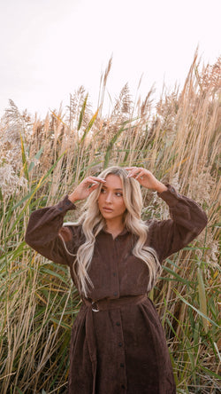 Cassie Brown Corduroy Dress