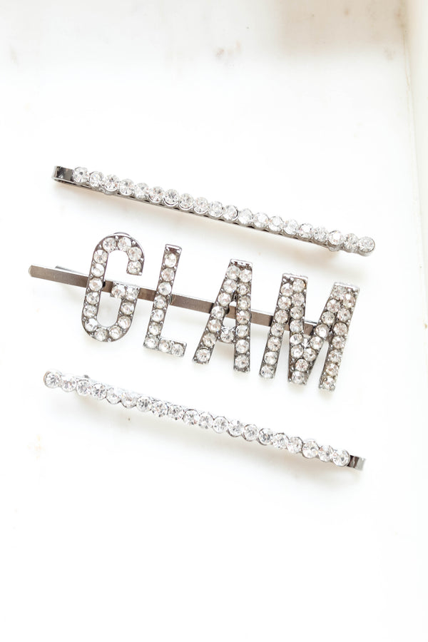Too Glam For You Hair Clip Set