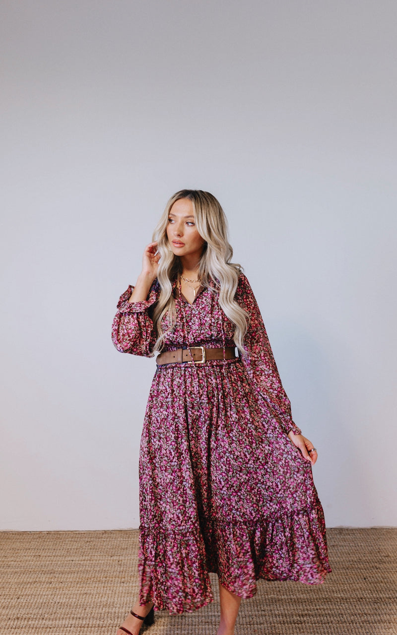 Harper Floral Midi Dress