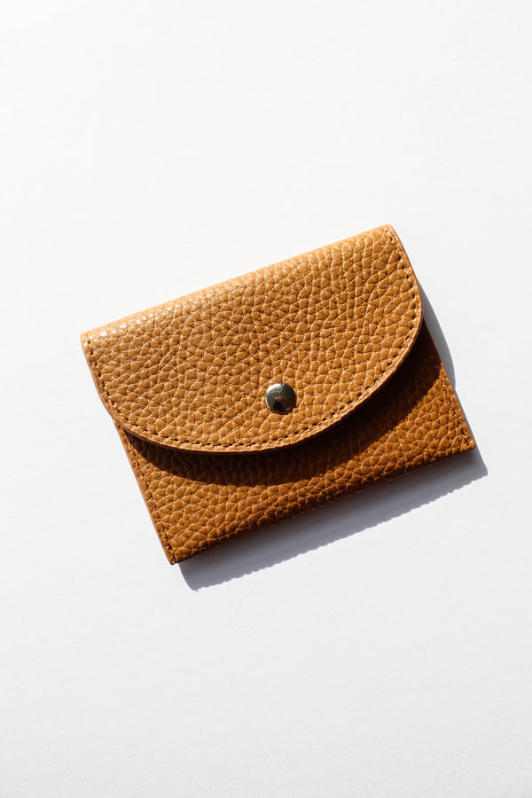 Tan Faux Leather Mini Wallet
