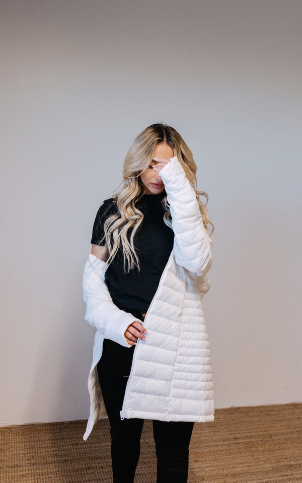 White Thermal Puffer Jacket
