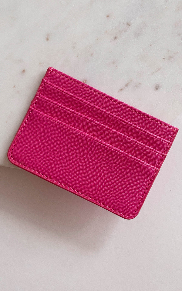 Fuchsia Sleek Card Holder Wallet