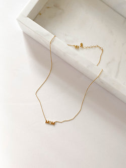 MOM Charm 14K Gold Necklace