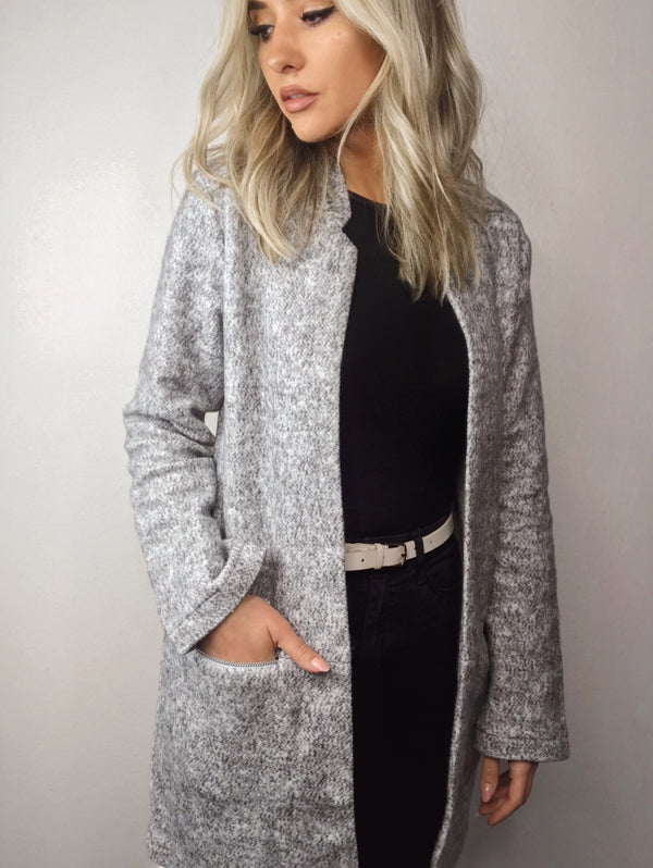 Posh Heather Grey Coat