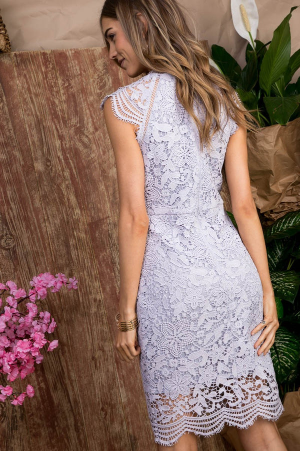 Daisy Lavender Lace Dress