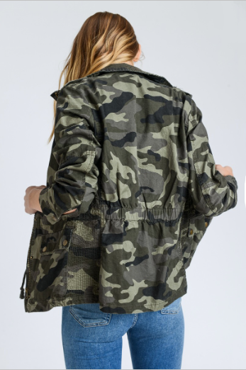 Rosie Camo Green Jacket