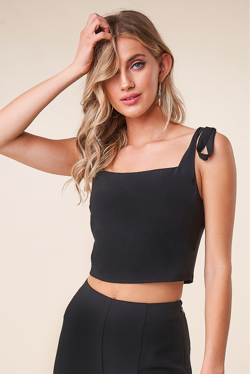 Jaden Black Crop Top