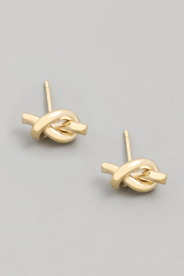 Mini Knot Gold Earrings