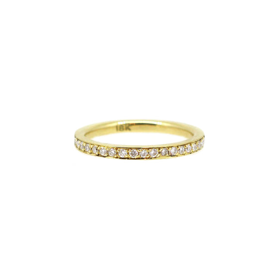 Yellow Gold Pointer Ring Half Set
