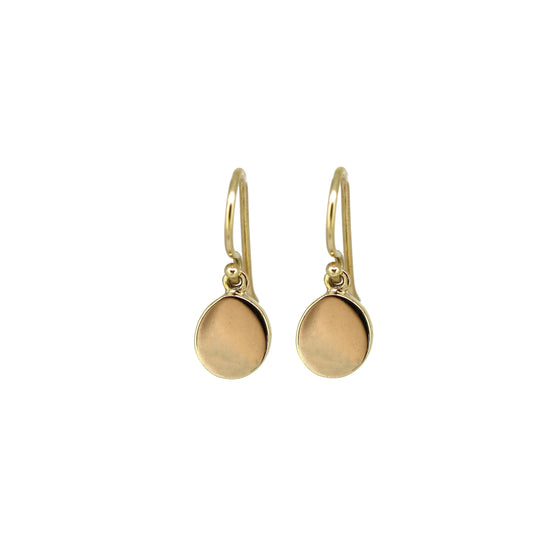 Small Gold Pebble Earrings