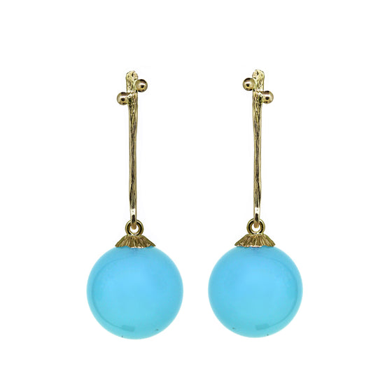 Secret Garden drop earrings with Chalcedony