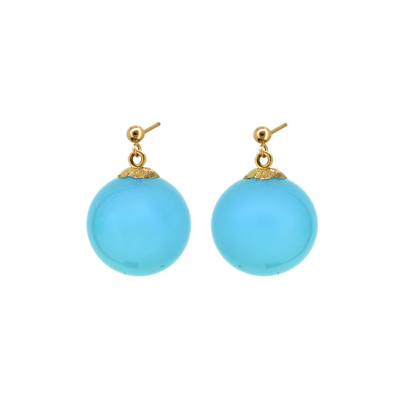 Jardin Chalcedony short drop  earring