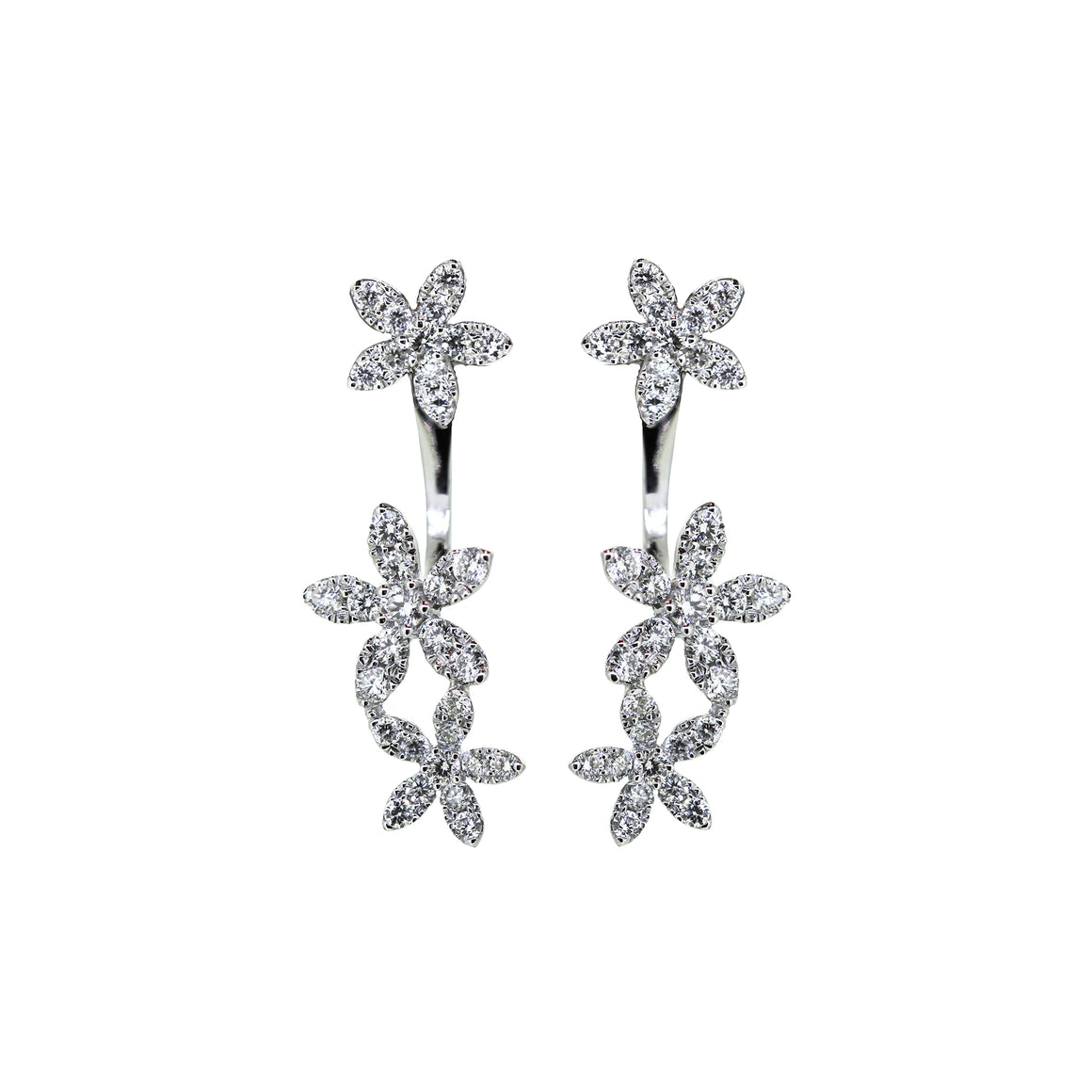 Daisy Chain diamond earrings